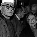 Ignazio Buttitta con Lia Pasqualino Noto e Leonardo Sciascia, Palermo 1987 - Foto Carlo Puleo