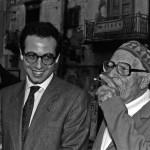 Ignazio Buttitta con Giuseppe Tornatore, Bagheria 1989 - Foto Carlo Puleo