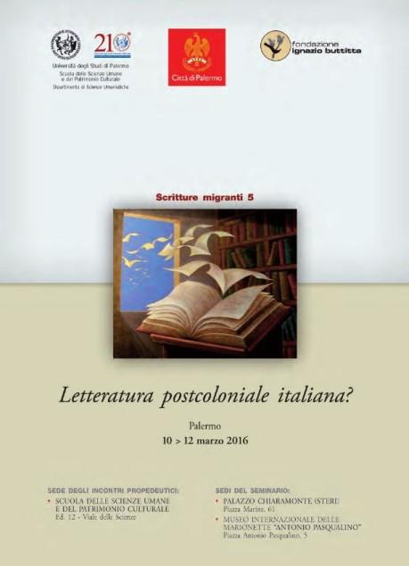 Locandina Letteratura Postcoloniale Italiana?