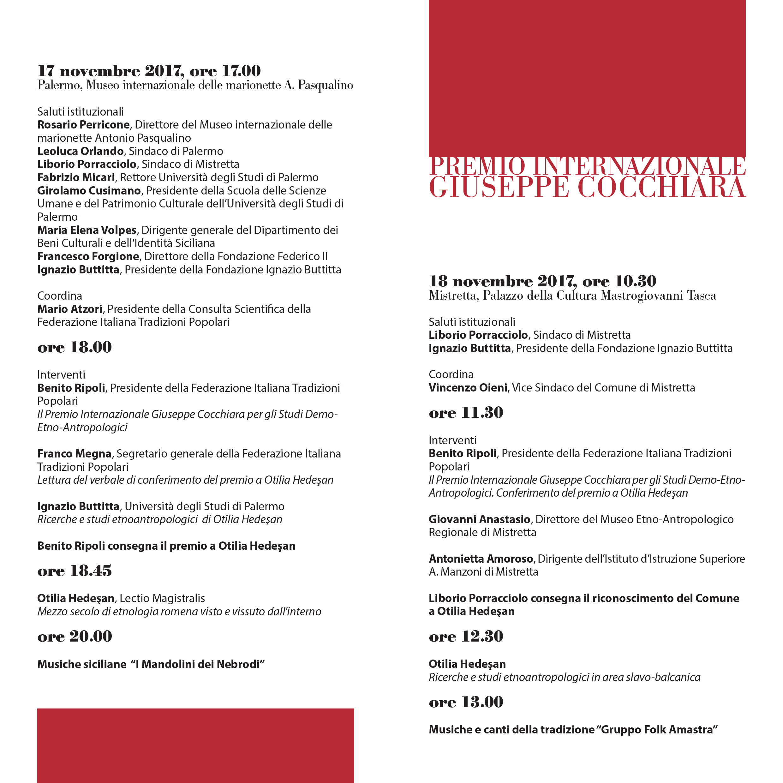Premio Cocchiara (pieghevole 10,5x21)